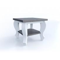 Sivupöytä Broowood Elise 500x500mm, valkoinen