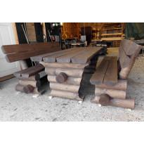 Hirsikaluste Broowood, perinteinen, XL-nojilla, 2000mm
