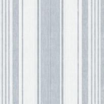 Tapetti Boråstapeter Northern Stripes, Linen Stripe, 6860, 0.53x10.05m, valkoinen/sininen