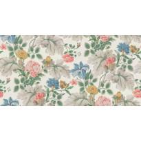 Tapetti Boråstapeter InBloom Carnation Garden, 7235, 0.53x10.05m, valkoinen/monivärinen