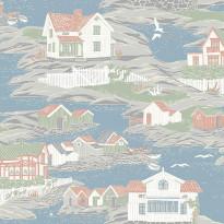 Tapetti Boråstapeter Marstrand II Arcipelago, 8850, 0.53x10.05m, sininen