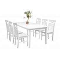 Ruokailuryhmä Bern ruokapöytä ja Phoenix tuolit