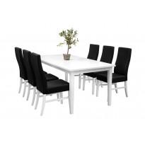 Ruokailuryhmä Bern ruokapöytä ja Cary tuolit