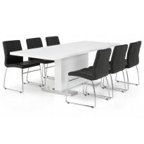 Ruokapöytä Apia Reno tuoleilla 6 tuolia