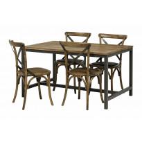 Ruokailuryhmä Sisilia vintage 140 4 tuolilla