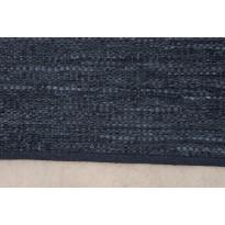 Räsymatto Kirkwall 200x300 cm nahkainen musta
