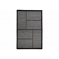 Kelim-matto Karaman 170x240 cm musta/harmaa