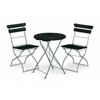 Parvekeryhmä Krögaren 2 tuolilla musta