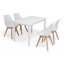 Ruokailuryhmä Phoenix Stil tuoleilla
