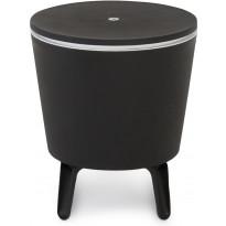 Kylmälaukku/pöytä Cool Bar, musta, valkoinen sisusta
