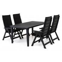 Ruokailuryhmä Brasilia Futura pöydällä 4 tuolia