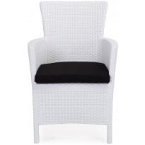 Nojatuoli Liisa, valkoinen, polyrottinki