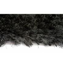 Käsinkudottu matto Bishan 170x240 cm musta
