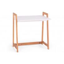 Työpöytä Brooklyn 80x55x86cm valkoinen/luonnonväri