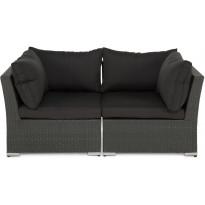 Lounge-sohva Cambridge, 2-istuttava, käsinojilla, musta