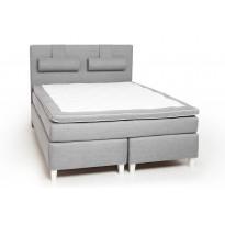Jenkkisänky Scottsdale Luxus 160x200 cm vaaleanharmaa/valkoinen