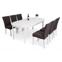 Ruokailuryhmä Lusaka Haag pöydällä 6 Lusaka tuolia