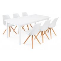 Ruokailuryhmä Chandler/Bern valk/tammi 6 tuolia