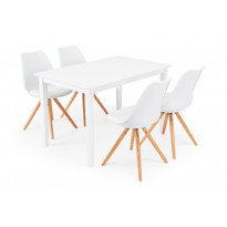 Ruokailuryhmä Chandler/Phoenix valk/tammi 4 tuolia