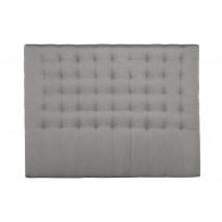 Sängynpääty Oskarshamn tikattu korkea 160x210 cm harmaa