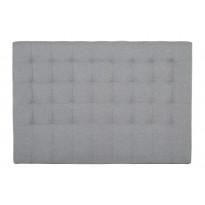 Sängynpääty Oskarshamn tikattu matala 125x140 cm harmaa