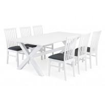 Ruokailuryhmä Malmö Haag tuoleilla valkoinen