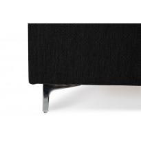 Jenkkisänky Manchester Luxus 160x200 cm musta metallijaloilla elastisella vaahtomuovipatjalla