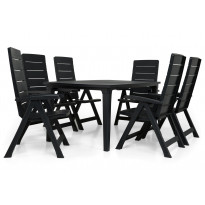 Ruokailuryhmä Brasilia Futura pöydällä 6 tuolia