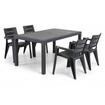 Ruokailuryhmä Ibiza Melody pöydällä 4 tuolia