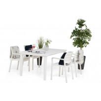 Ruokailuryhmä Ibiza Futura pöydällä Valk/4 tuolia