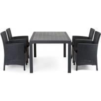 Ruokailuryhmä Liisa Sointu pöydällä 4 tuolilla grafiitti