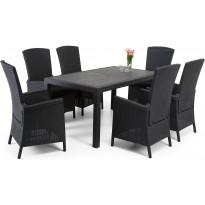 Ruokailuryhmä Furuviken Sointu pöydällä 6 tuolilla