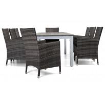 Ruokailuryhmä Torsö 8 Somero tuolilla 220-280cm