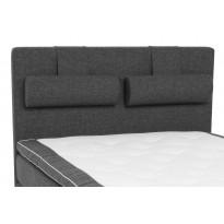 Sängynpääty Scottsdale Luxus 140 cm tummanharmaa