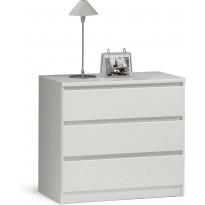 Lipasto Puukari, 77cm, 3 laatikkoa, valkoinen