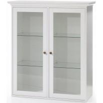 Seinäkaappi Kaares, 2 lasiovea, valkoinen