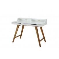 Työpöytä Göteborg 110x58x85 cm valkoinen/luonnonväri
