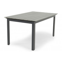 Ruokapöytä Gijon 150-210 musta/harmaa