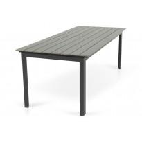 Ruokapöytä Gijon 220-280 musta/harmaa