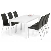 Ruokailuryhmä Bern 6 Halmstad tuolilla