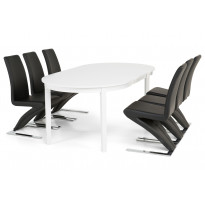 Ruokailuryhmä Haag 6 Hans tuolilla