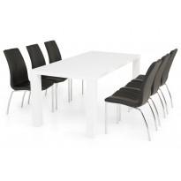 Ruokailuryhmä Nizza 6 Halmstad tuolilla