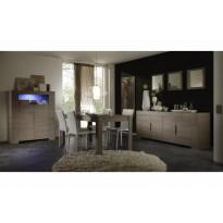 Ruokapöytä Napoli 160/90 cm harmaa