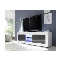 TV-taso Essential 181x56x43 cm valkoinen/antrasiitti