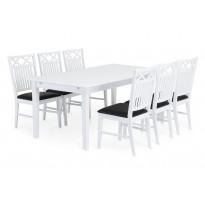 Ruokailuryhmä Landskrona 6 tuolia