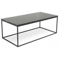 Sohvapöytä New York 120x60x45 cm musta marmori/teräs mustilla jaloilla