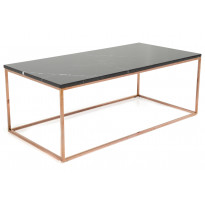 Sohvapöytä New York 120x60x45 cm musta marmori/kupari