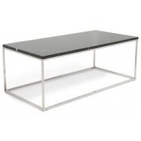 Sohvapöytä New York 120x60x45 cm musta marmori/teräs teräs jaloilla