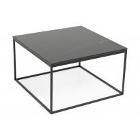 Sohvapöytä New York 75x75x45 cm musta marmori/teräs