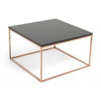 Sohvapöytä New York 75x75x45 cm musta marmori/kupari